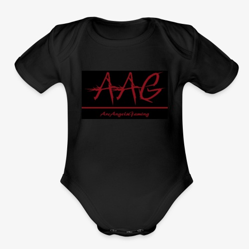 ArcAngelsGaming t-shirt black - Organic Short Sleeve Baby Bodysuit