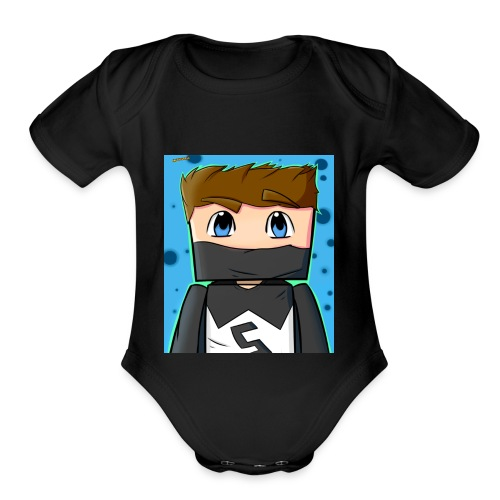 MY YT CHANNEL LOGO SHIRT - Organic Short Sleeve Baby Bodysuit