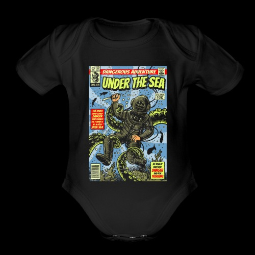 Under the Sea Comic Adventure - Organic Short Sleeve Baby Bodysuit