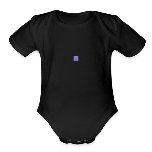 icon supermario - Organic Short Sleeve Baby Bodysuit
