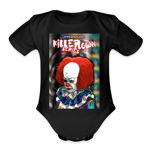 clown series - Organic Short Sleeve Baby Bodysuit
