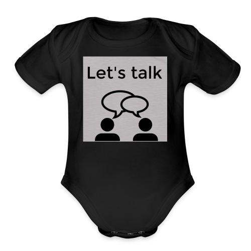Let's talk design - Organic Short Sleeve Baby Bodysuit