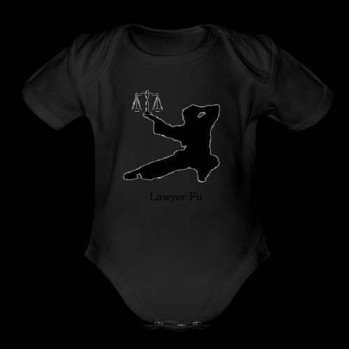 Lawyer Fu Name and Logo - Organic Short Sleeve Baby Bodysuit