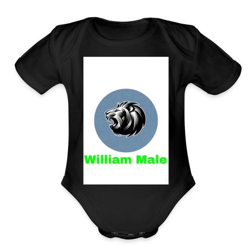 William Male - Organic Short Sleeve Baby Bodysuit
