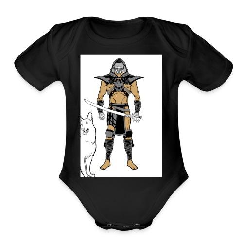 ninja 2 - Organic Short Sleeve Baby Bodysuit