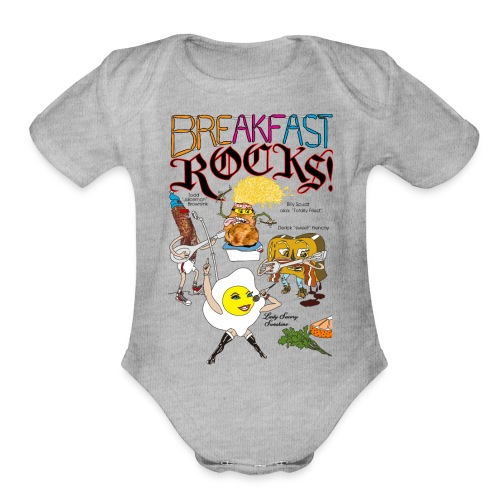 Breakfast Rocks! - Organic Short Sleeve Baby Bodysuit