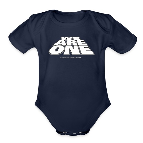 We are One 2 - Organic Short Sleeve Baby Bodysuit