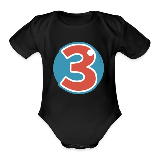 3 Years - Organic Short Sleeve Baby Bodysuit