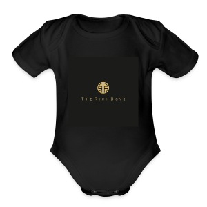 The rich boys embroiderie - Short Sleeve Baby Bodysuit