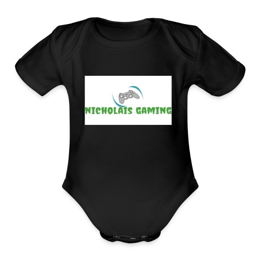 My new gaming logo - Organic Short Sleeve Baby Bodysuit