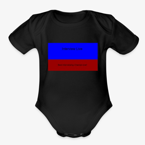 interview live 2 - Organic Short Sleeve Baby Bodysuit