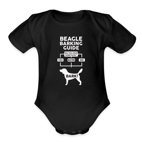 Beagle Dog T Shirt funny - Organic Short Sleeve Baby Bodysuit