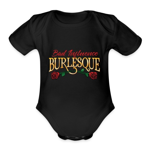 Bad Influence Burlesque Logo 2018 - Organic Short Sleeve Baby Bodysuit