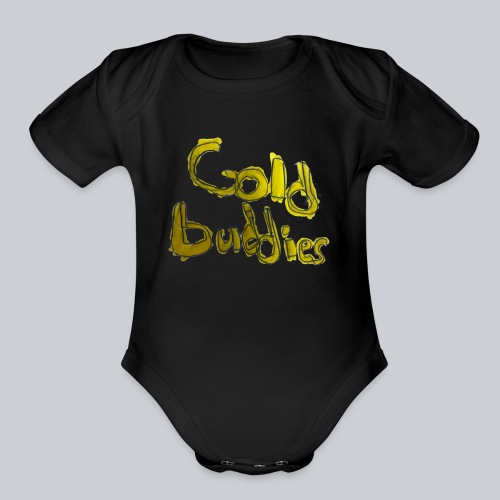Gold Buddies by Cool J - Organic Short Sleeve Baby Bodysuit