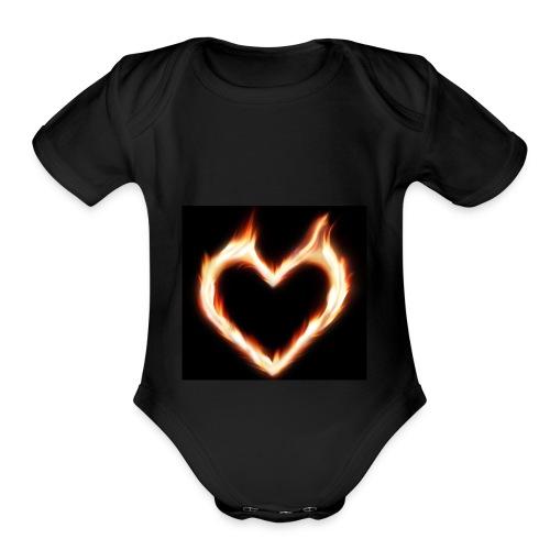 LoveSymbols - Organic Short Sleeve Baby Bodysuit