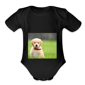 Cute puppy Clothing dogs pets cute fur happy - Short Sleeve Baby Bodysuit