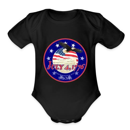 Independence Day - Organic Short Sleeve Baby Bodysuit
