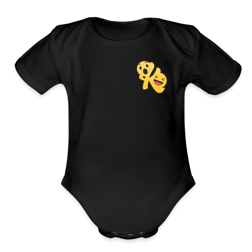 Komedy Logo Mini - Organic Short Sleeve Baby Bodysuit