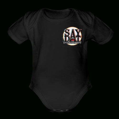 SayDatClique Apparel USA - Organic Short Sleeve Baby Bodysuit