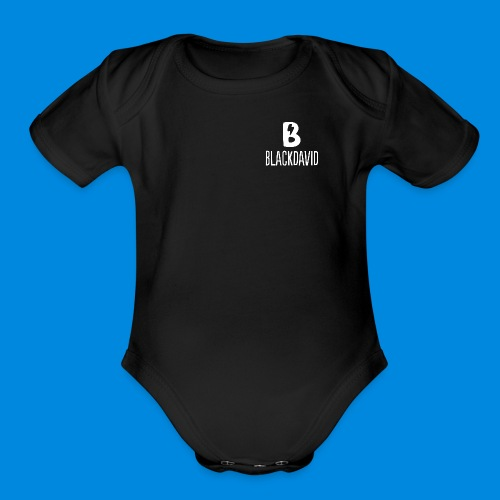 White blackdavid - Organic Short Sleeve Baby Bodysuit