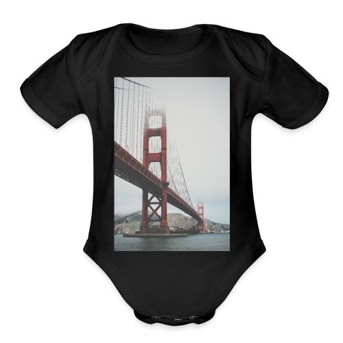 Golden Gate Bridge - Organic Short Sleeve Baby Bodysuit