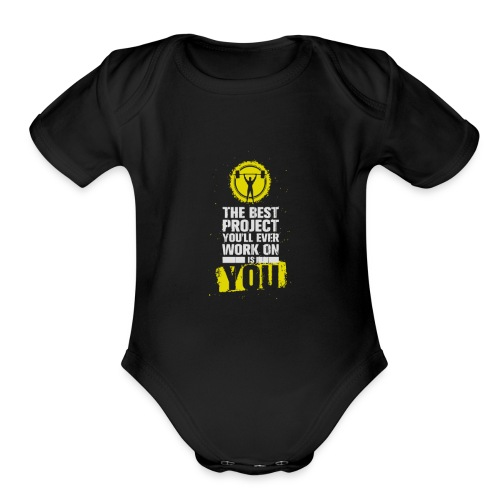 Gymfit - Organic Short Sleeve Baby Bodysuit