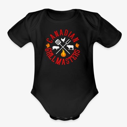 Canadian Grill Master Logo - Organic Short Sleeve Baby Bodysuit