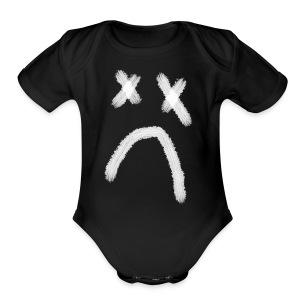 SADBOY WHITE - Short Sleeve Baby Bodysuit