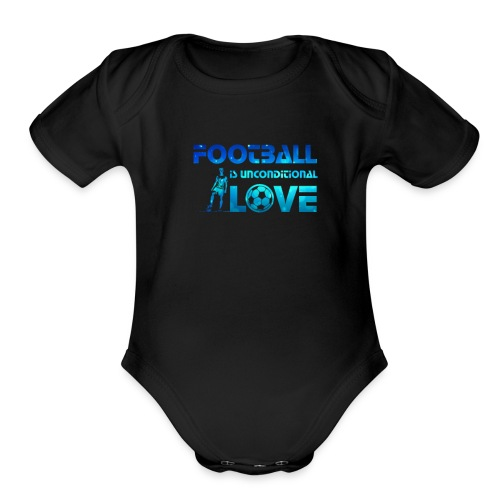 Football is Love - Organic Short Sleeve Baby Bodysuit