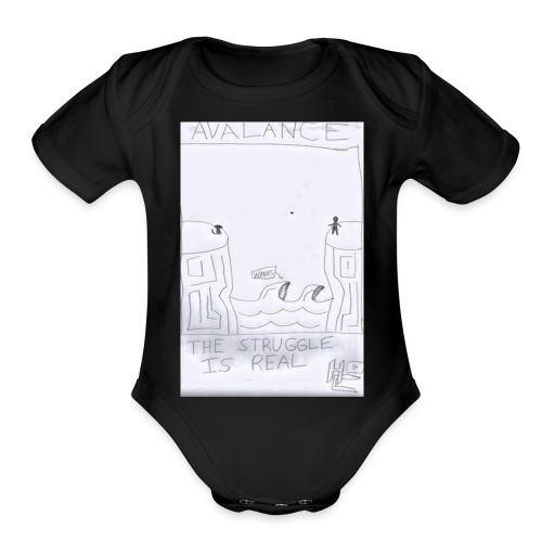 The Struggle Is Real - Organic Short Sleeve Baby Bodysuit