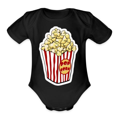 Popcorn Cartoon Pop Corn - Organic Short Sleeve Baby Bodysuit
