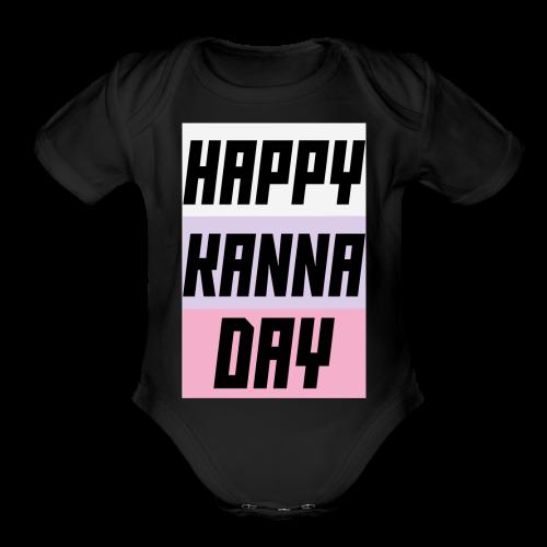 Miss Kobayashi's Dragon Maid Happy Kanna Day - Organic Short Sleeve Baby Bodysuit