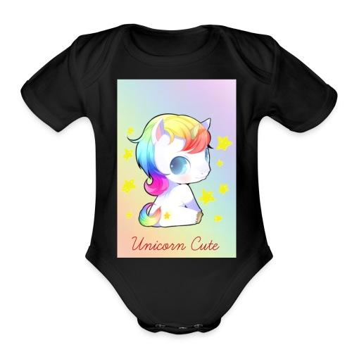 Unicorn Cute - Organic Short Sleeve Baby Bodysuit
