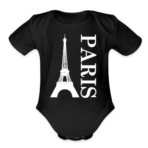 Menara eifell Paris Logo - Organic Short Sleeve Baby Bodysuit