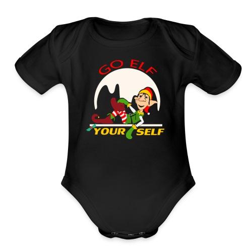 Go Elf Your self mery cristmas - Organic Short Sleeve Baby Bodysuit