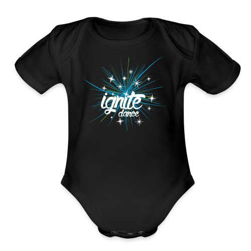 ignite logo - Organic Short Sleeve Baby Bodysuit