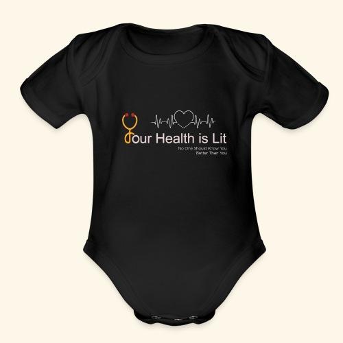 YHIL Stethoscope - Organic Short Sleeve Baby Bodysuit