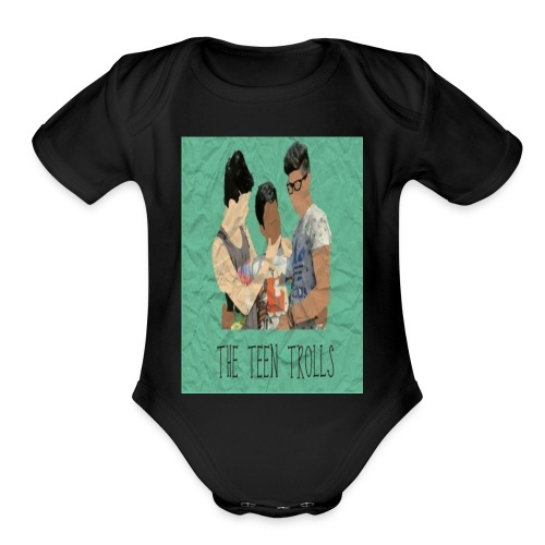 THE TEEN TROLLS - T-SHIRT - Organic Short Sleeve Baby Bodysuit