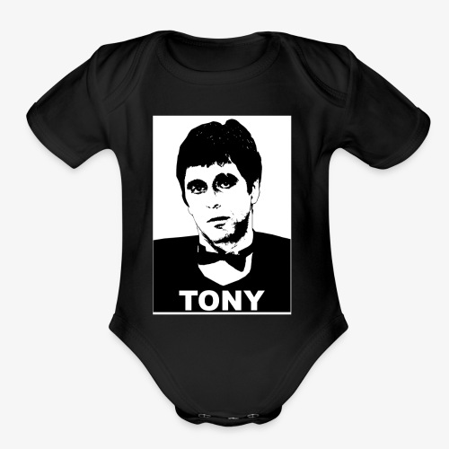 Tony Montana - Organic Short Sleeve Baby Bodysuit