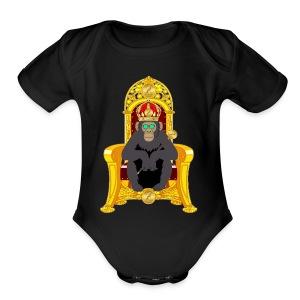 Bitcoin Monkey King - Short Sleeve Baby Bodysuit