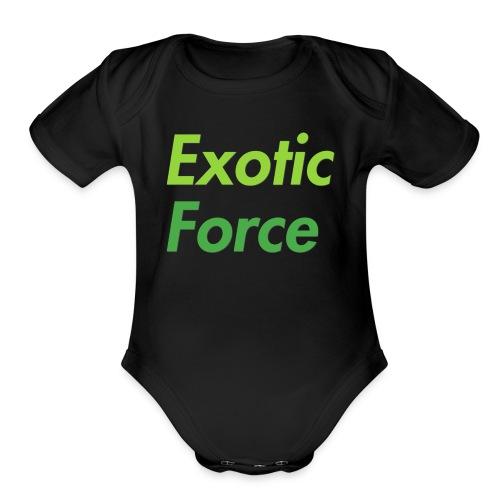 Exotic Force Logo - Organic Short Sleeve Baby Bodysuit