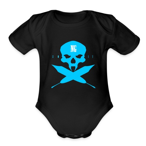 Crossed - Organic Short Sleeve Baby Bodysuit
