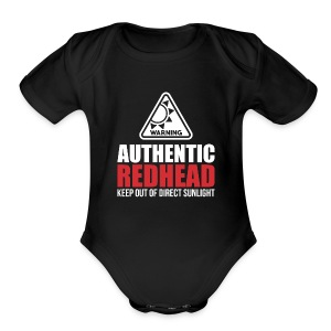Authentic Redhead Funny Women T-Shirt - Short Sleeve Baby Bodysuit