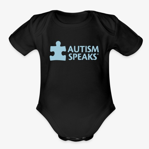 Autism speaks....dont listen. - Organic Short Sleeve Baby Bodysuit