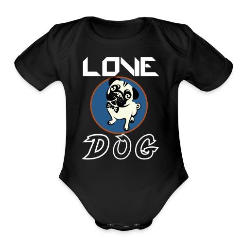 dog is love - Organic Short Sleeve Baby Bodysuit