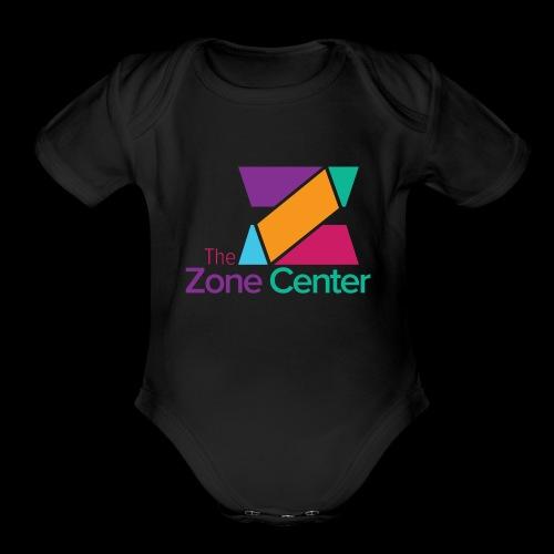 Zone Center T Shirt Logo MultiColor - Organic Short Sleeve Baby Bodysuit