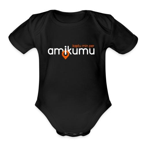 Kaptu min per Amikumu Blanka - Organic Short Sleeve Baby Bodysuit