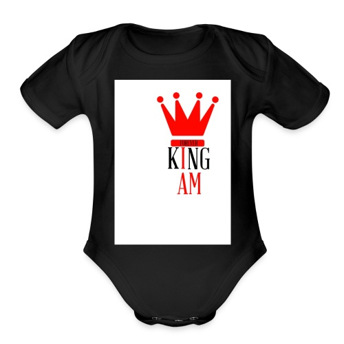king Iam - Organic Short Sleeve Baby Bodysuit