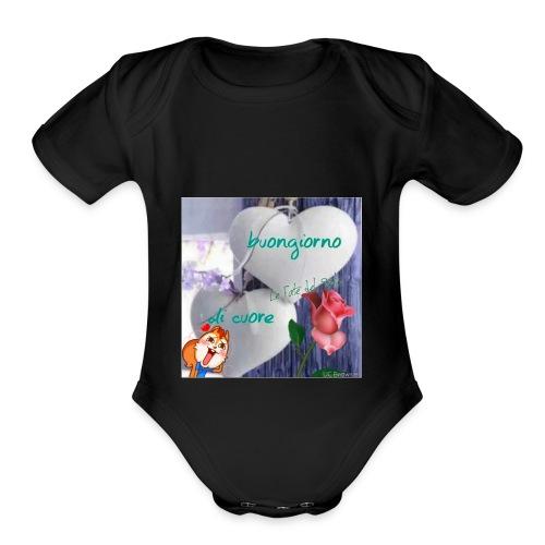 Livelove - Organic Short Sleeve Baby Bodysuit