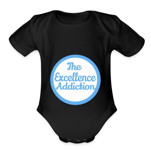 The Excellence Addiction Brand - Organic Short Sleeve Baby Bodysuit
